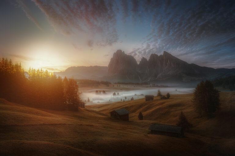 Sunrise at Seiser Alm